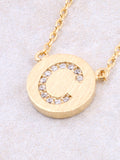 Circle Initial Necklace Anarchy Street - Gold C