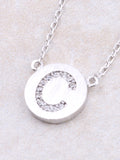 Circle Initial Necklace Anarchy Street - Silver C