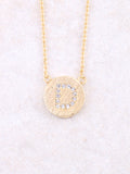 Circle Initial Necklace Anarchy Street Gold D