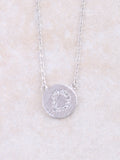 Circle Initial Necklace Anarchy Street Silver D