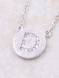 Circle Initial Necklace Anarchy Street - Silver D