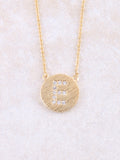 Circle Initial Necklace Anarchy Street Gold E