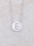Circle Initial Necklace Anarchy Street Silver E