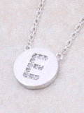 Circle Initial Necklace Anarchy Street - Silver E