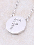 Circle Initial Necklace Anarchy Street - Silver F