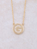 Circle Initial Necklace Anarchy Street Gold G