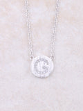 Circle Initial Necklace Anarchy Street Silver G