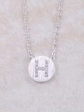 Circle Initial Necklace Anarchy Street Silver H
