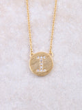 Circle Initial Necklace Anarchy Street Gold I