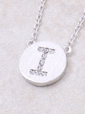 Circle Initial Necklace Anarchy Street - Silver I