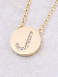 Circle Initial Necklace Anarchy Street - Gold J