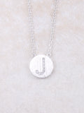 Circle Initial Necklace Anarchy Street Silver J