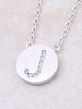 Circle Initial Necklace Anarchy Street - Silver J