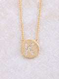 Circle Initial Necklace Anarchy Street Gold K