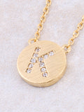 Circle Initial Necklace Anarchy Street - Gold K