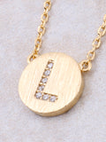 Circle Initial Necklace Anarchy Street - Gold L