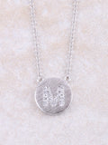 Circle Initial Necklace Anarchy Street Silver M