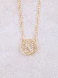 Circle Initial Necklace Anarchy Street Gold N