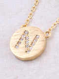 Circle Initial Necklace Anarchy Street - Gold N