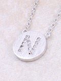 Circle Initial Necklace Anarchy Street - Silver N