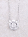 Circle Initial Necklace Anarchy Street Silver O