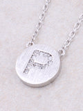 Circle Initial Necklace Anarchy Street - Silver P