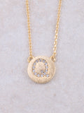 Circle Initial Necklace Anarchy Street Gold Q