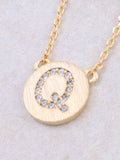 Circle Initial Necklace Anarchy Street - Gold Q