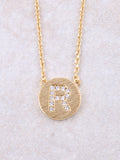 Circle Initial Necklace Anarchy Street Gold R
