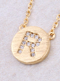 Circle Initial Necklace Anarchy Street - Gold R