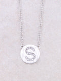 Circle Initial Necklace Anarchy Street Silver S