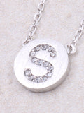 Circle Initial Necklace Anarchy Street - Silver S