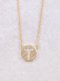 Circle Initial Necklace Anarchy Street Gold T