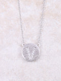 Circle Initial Necklace Anarchy Street Silver V