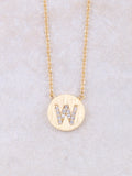 Circle Initial Necklace Anarchy Street Gold W