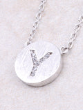Circle Initial Necklace Anarchy Street - Silver Y