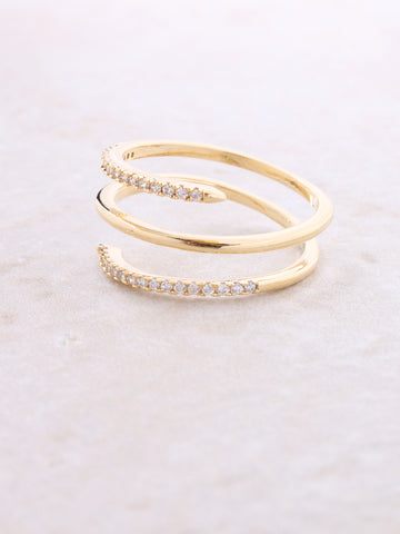 Spiral Pave Ring Anarchy Street Gold
