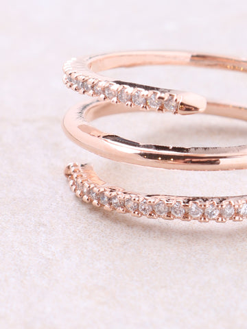 Spiral Pave Ring Anarchy Street Rosegold - Details