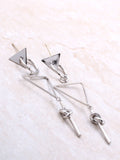 Tied Bar Drop Earring