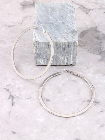 Shallow Hoops Earrings Anarchy Street Silver