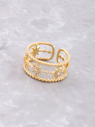 Dotted Starburst Ring Anarchy Street Gold