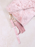 Velvet Clutch Bag Anarchy Street Pink - 2 Details