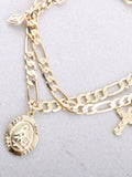 Prayer Circle Chain Bracelet Anarchy Street Gold - Details