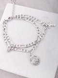 Prayer Circle Chain Bracelet Anarchy Street Silver