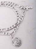 Prayer Circle Chain Bracelet Anarchy Street Silver - Details