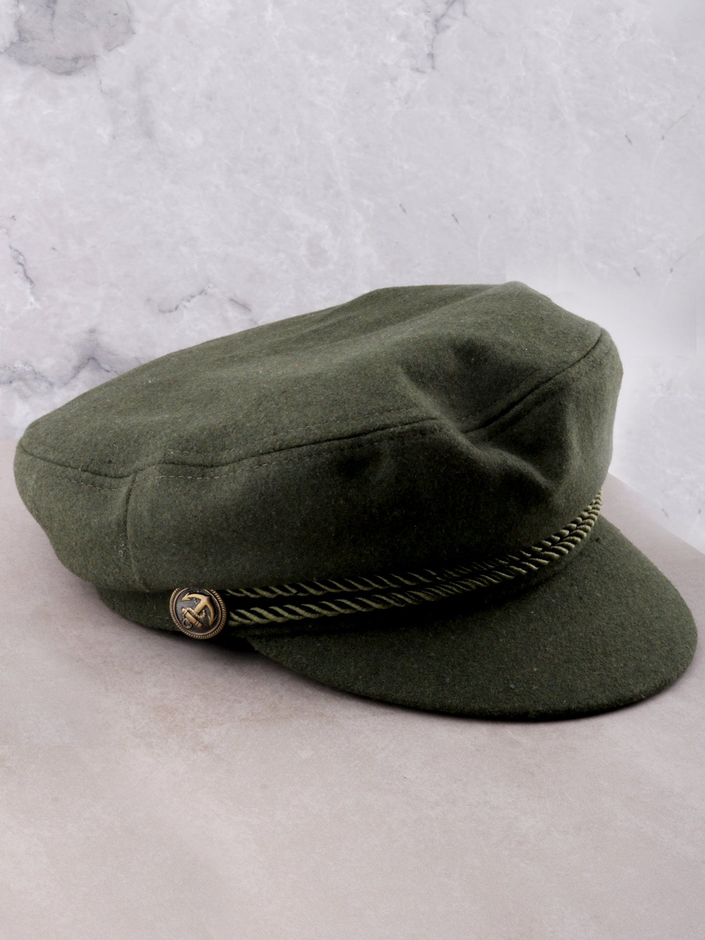 Wool Cabbie Hat Anarchy Street Olive