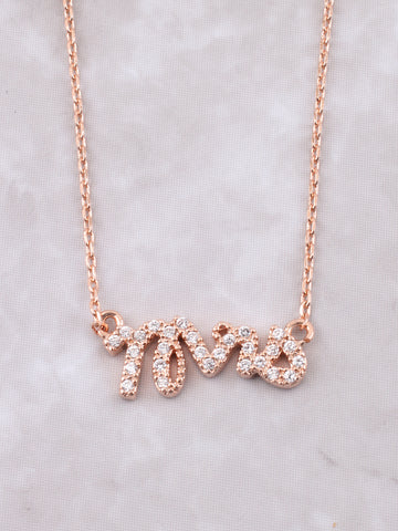 Mrs Pave Necklace Anarchy Street Rosegold
