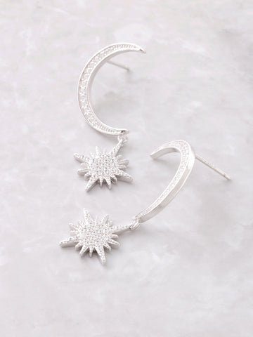 Lunar Eclipse Sterling Silver Earrings Anarchy Street Silver - Details