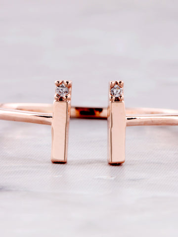 Parallel Lines Ring Anarchy Street Rosegold - Details