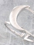 Quarter Moon Ring Anarchy Street Silver - Details